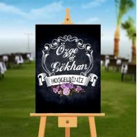 Düğün, Nişan, Kına Karşılama Panosu 70x100 cm