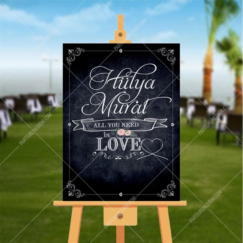 Düğün, Nişan, Kına Hatıra Panosu 70x100 cm