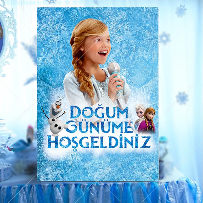 Elsa Frozen Karşılama Panosu 70x100cm