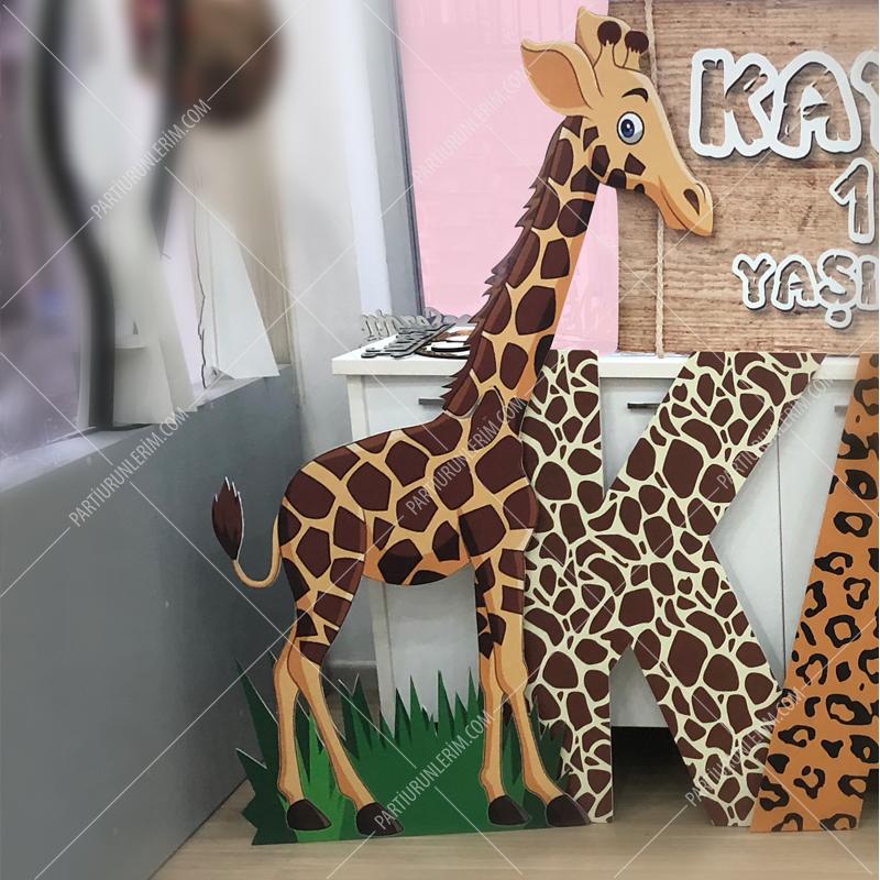 Safari Konsept Dekor Maket Zürafa Dev Ayaklı Pano 170cm